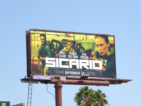 Sicario movie billboard