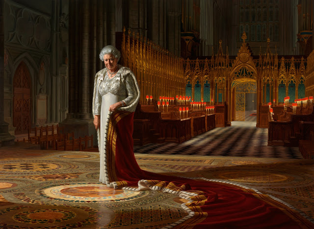 60 years coronation portrait of Queen Elizabeth II