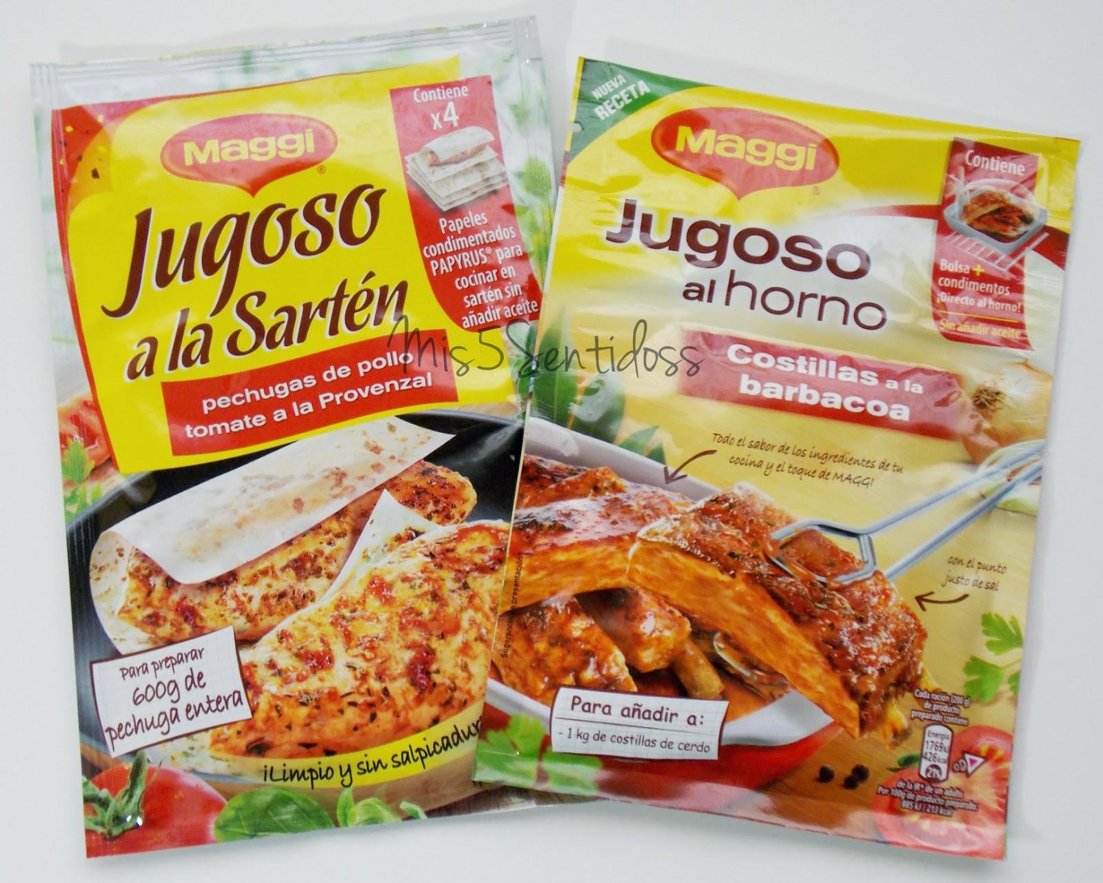 Degustabox Maggi jugoso a la sartén y jugoso al horno