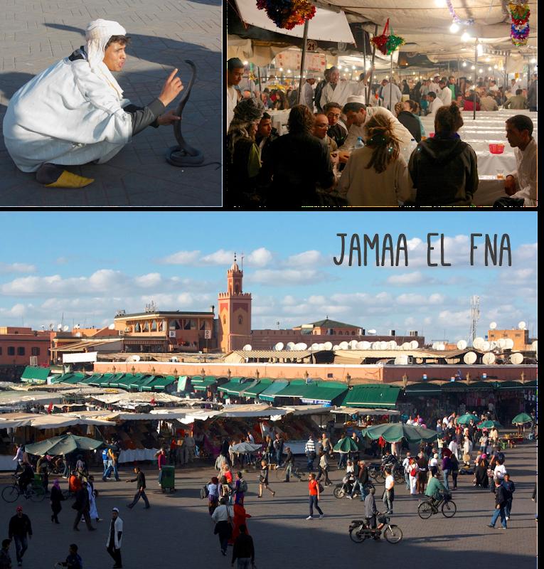 Plaza jamaa el fna de marrakech