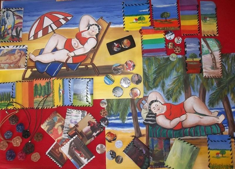 Multiarte: artesania en lienzo y oleo