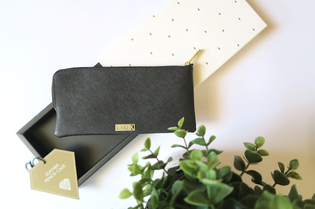 22- 20th Birthday Haul Blog Post- Kikki K Black Leather Pencil Case