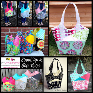 two pretty poppets Stand Up and Tote Notice