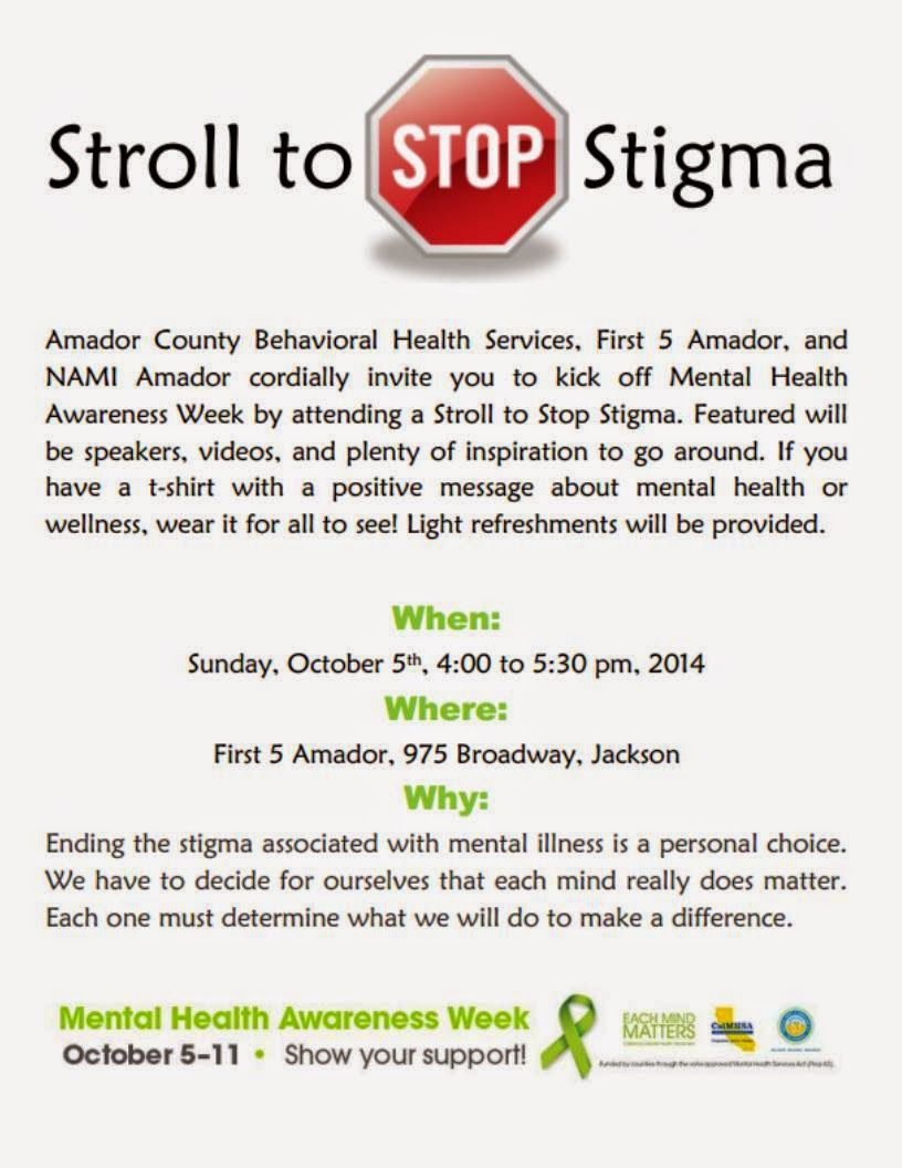 Stroll to Stop the Stigma - Oct 5
