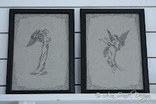 Vintagetavlor änglar