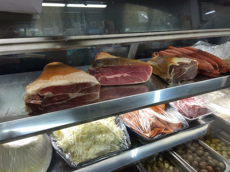 Deli at the Mona Lisa Italian Foods market in San Diego's Little Italy