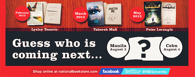 Calling all Filipino booknerds! Another bestselling author is coming to the Philippines!