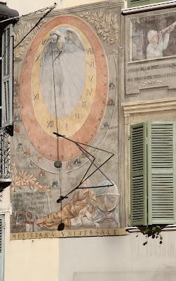 Sundial 1 on Via Meridiana - Equal Hours Sundial