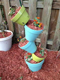 DIY Garden Project - Tilted Plant Tower