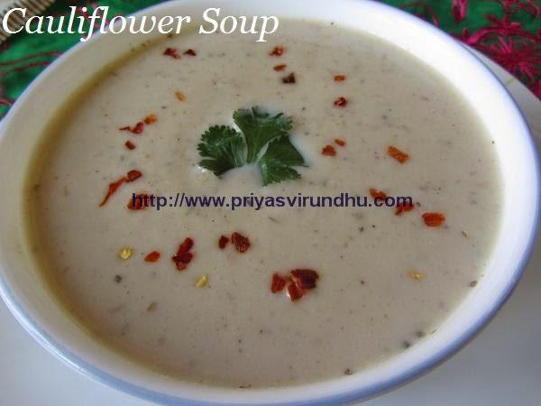 cauliflower soup/curried cauliflower soup