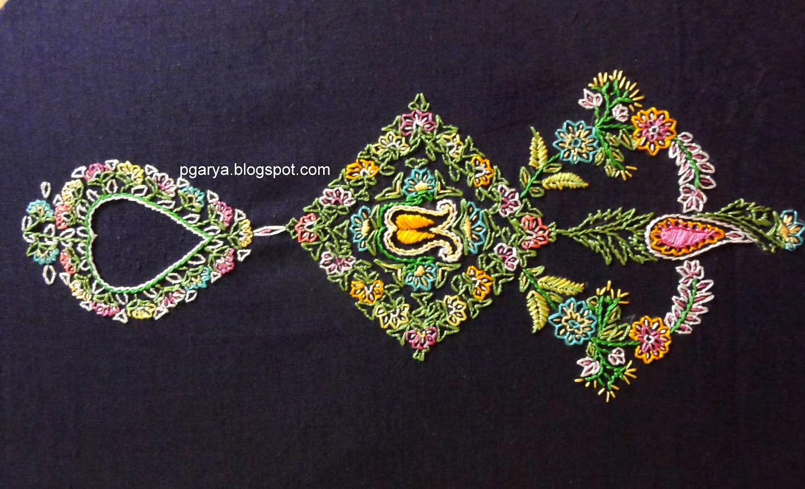 Crafty needlework by preethi g kashmiri embroidery