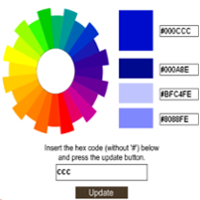 How to Add Color Code Wheel To Blogger?