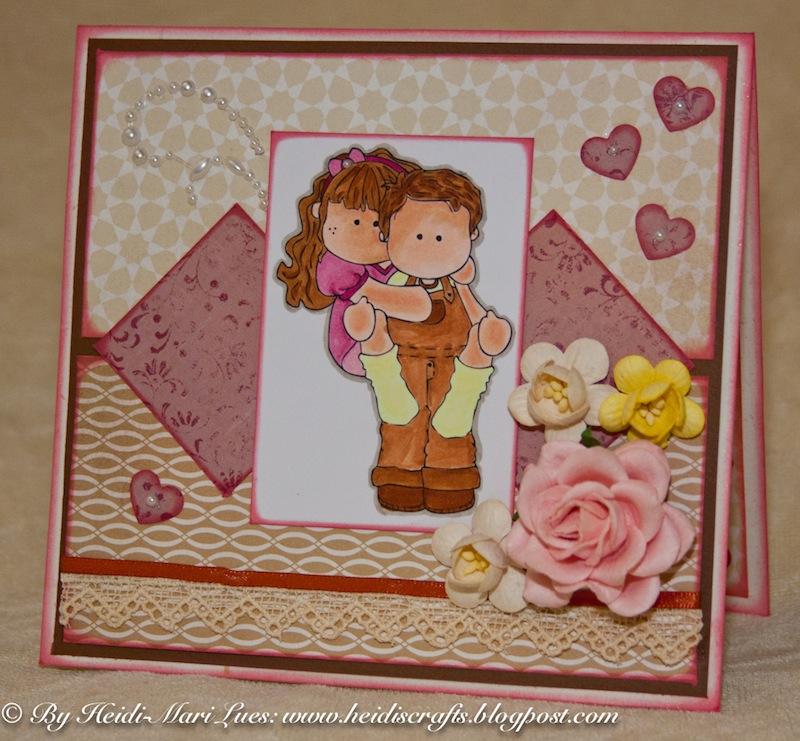 Heidi 39 s crafts wedding anniversary card for my parents for Anniversary craft ideas for parents