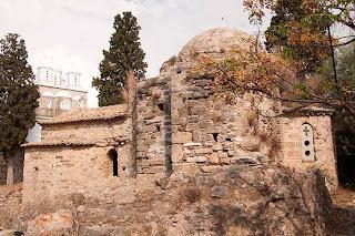 cross-domed church Agia Sophia in Koroni Greece