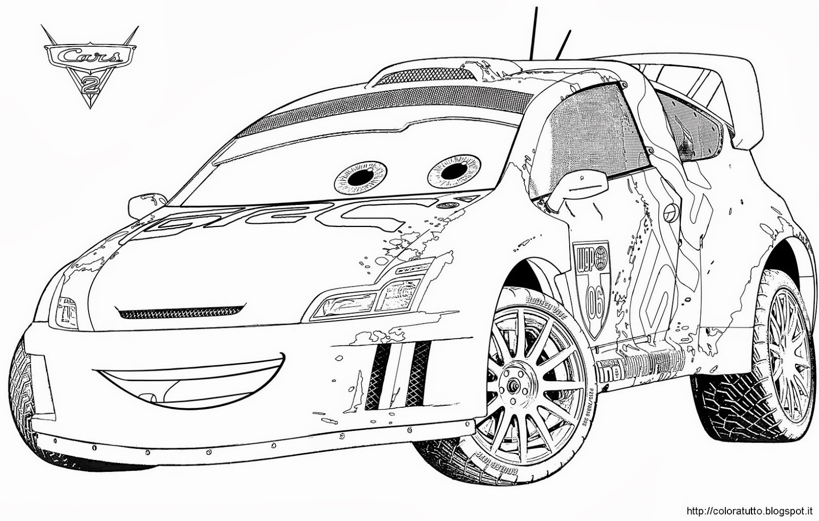 disegni da colorare cars 2 saetta