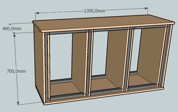 Construcci n de un acuario el mueble for Mueble acuario