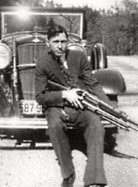 Clyde With Guns, Including Krag-Jorgensen He Traded For