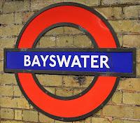 bayswater london metro londres