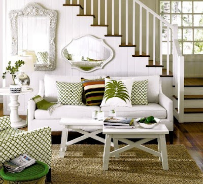 Small Green Living Spaces Furniture Decorating