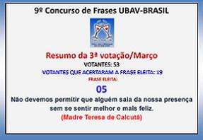 """* * """"RESULTADO DA 3ª VOTAÇÃO"""" * *"""