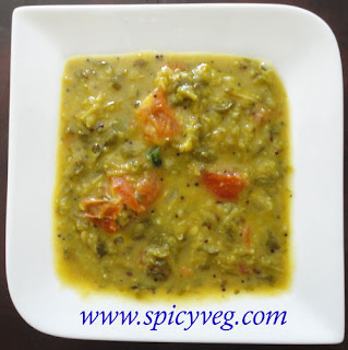 Fenugreek Leaves Dal - Methi Dal- Menthi Koora Pappu