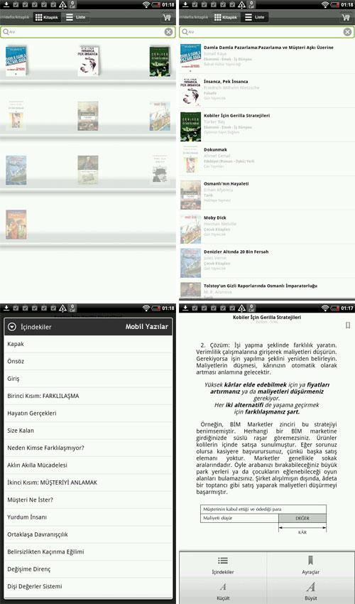 İdefix Kitaplık: Android için e-kitap / e-book okuyucu