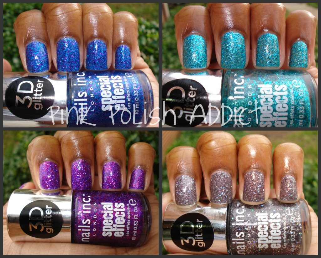 Pink Polish Addict: Nails Inc Special Effects 3D Glitter Collection
