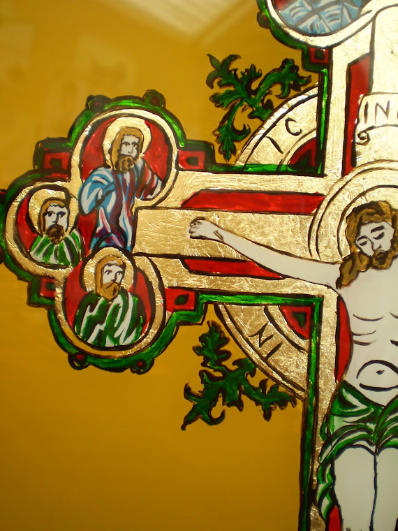 icon, Crucifixion, detail1