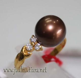 harga Cincin Mutiara Warna Coklat
