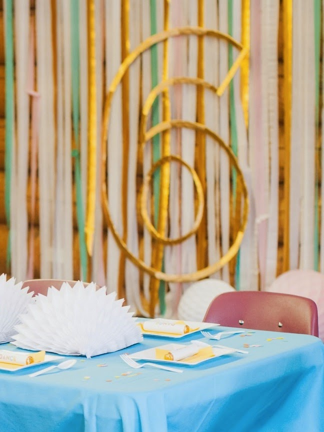 DIY Birthday Number Outline Photo Booth Backdrop   Shauna Younge (pics: Sydnee Bickett)