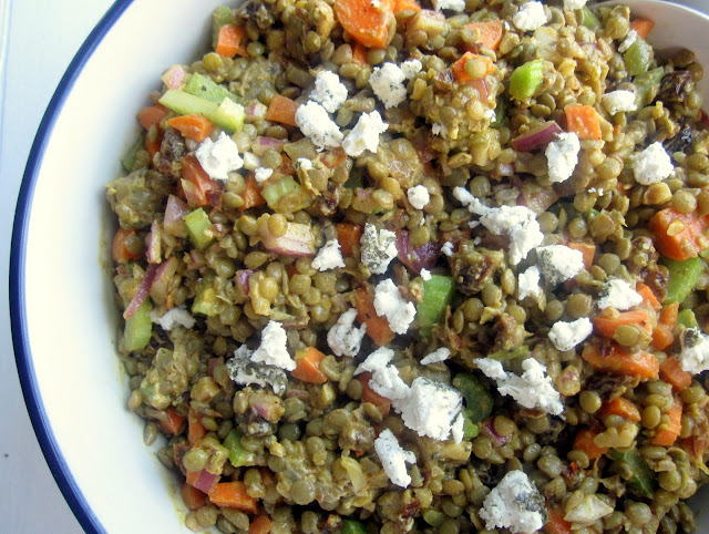 Spiced Lentil Salad for a Crowd