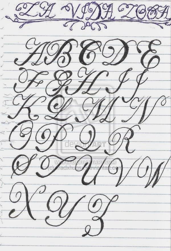 Script Lettering Tattoo Letters