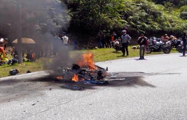 Rakaman Video Kemalangan Maut Motosikal Berkuasa Tinggi di Bukit Tinggi