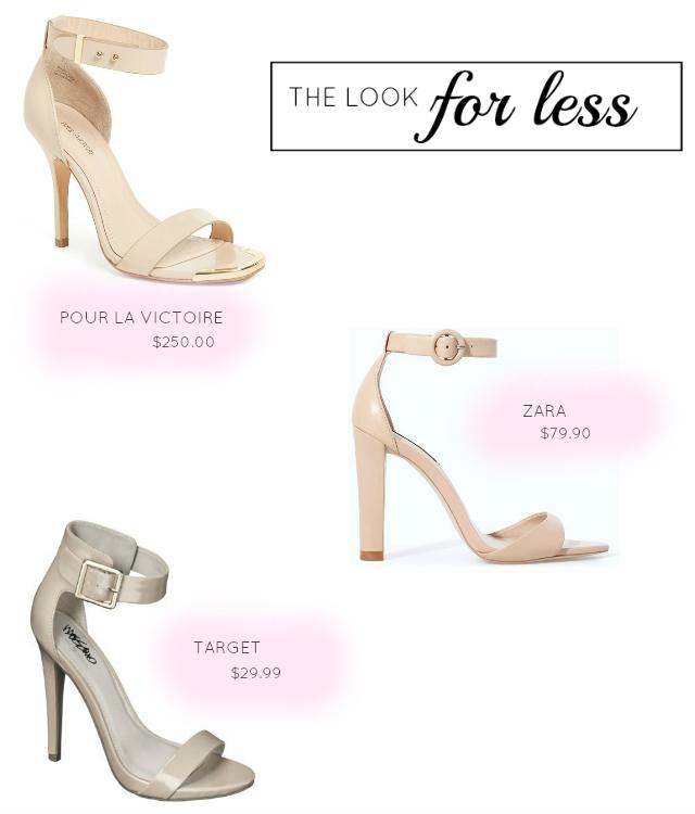 look for less zara, zara heel dupe, zara heel look alike
