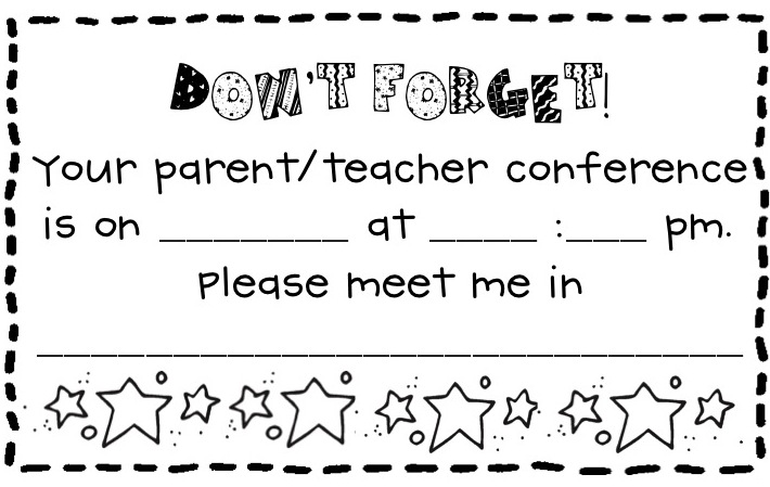 Parent Teacher Conference Forms Free Printables  Living