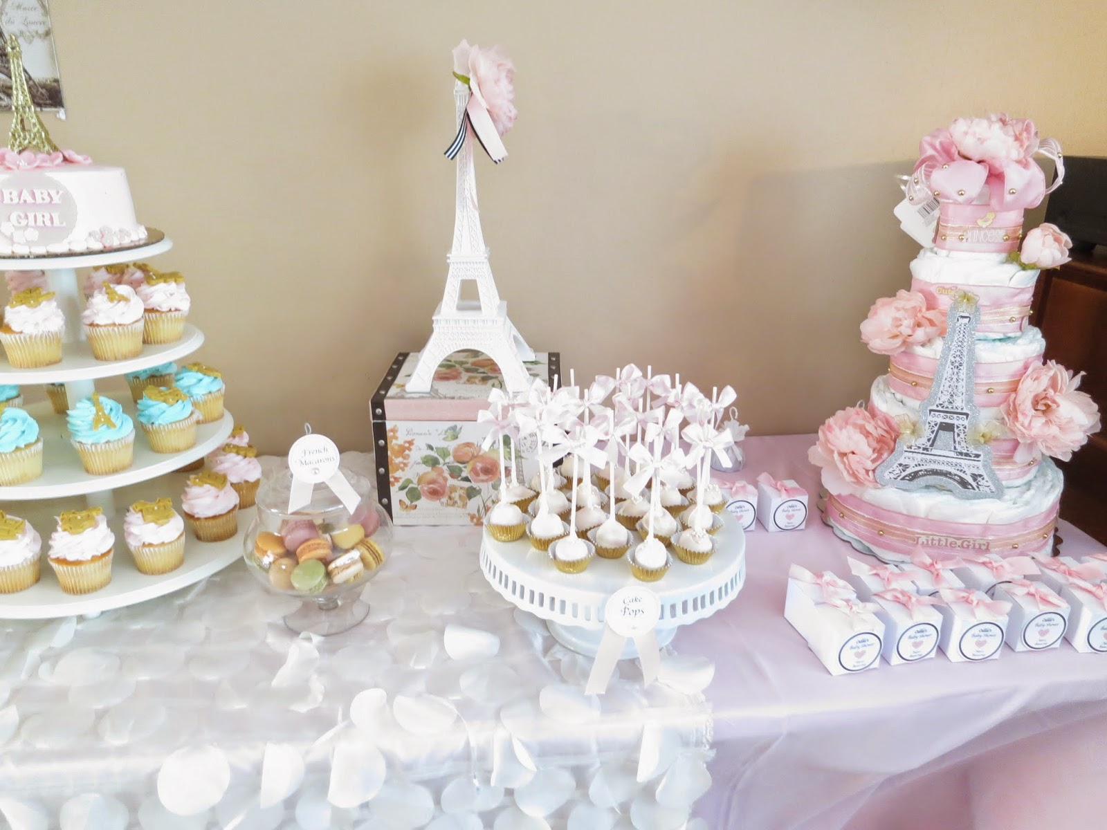 Paris Themed Baby Shower This 10 Feet Long Dessert Table Was The  Centerpiece Of This Party.