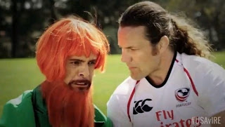 Ireland a Latino Leprechaun and Todd Clever the representative for USA Rugby