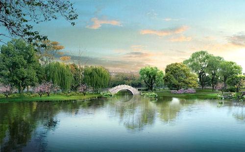 Jardín de ensueño - Dream Garden - Lago en silencio