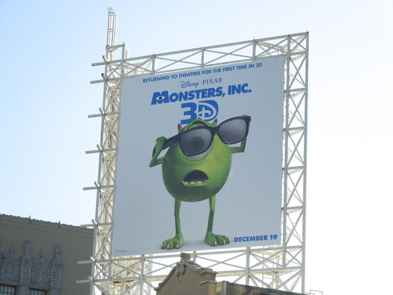 Monsters Inc 3D billboard