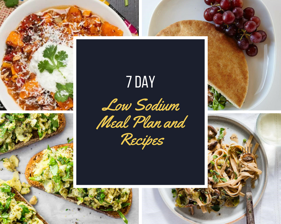 7 Day Low Sodium Meal Plan