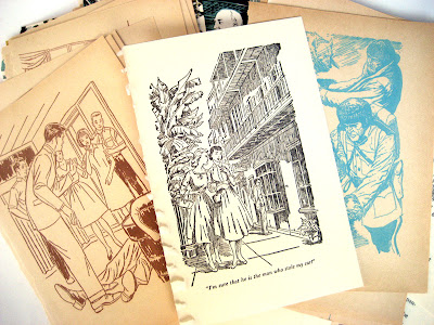 retro book art