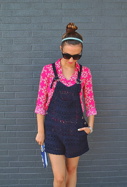 headband, banded 2gether, banded together, crocheted overalls, pointy toed keds, kate spade keds, navy keds, marc jacbos dog clutch
