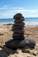 Strong, orderly pile of stones to represent a strong energy vibration