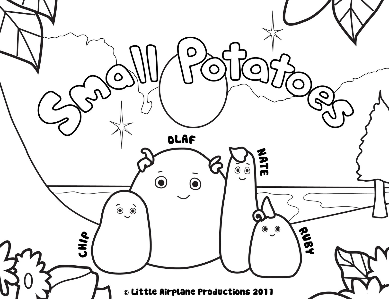small potatoes coloring pages