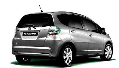 2012 Honda Jazz Hybrid Silver Rear