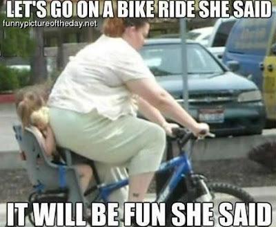 Lets Go On A Bike Ride Funny Fat Lady