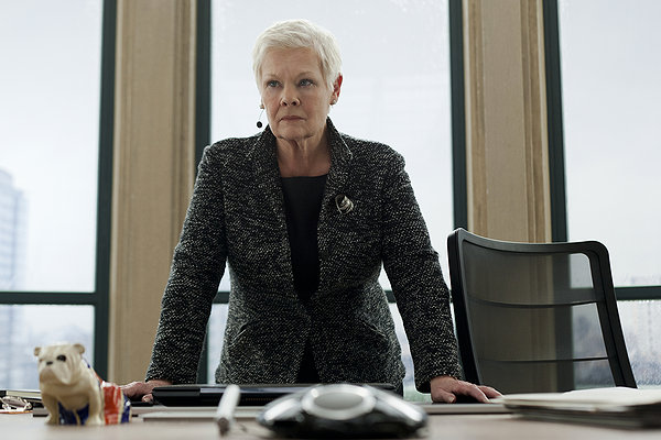 skyfall movie poster, imax, judi dench