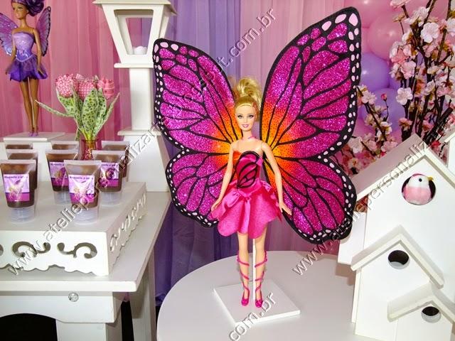 Decoração festa Barbie Butterfly Porto Alegre