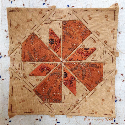Dear Jane Quilt - Block H 9 Snowflake Melt