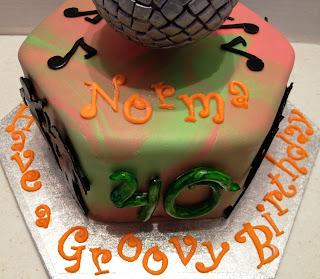 MaryMel Cakes 70s Groovy Birthday